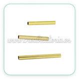 Tubo fino de cobre cilíndrico latón (20 unidades)  largo