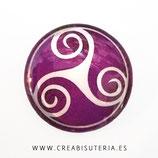 Cabuchón Cristal estampado Celta MORADO /PURPURA M003