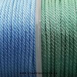 Cordón de Poliéster trenzado vintage 2mm - 1 metro-  color