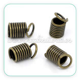 Terminal espiral grande 9x5mm bronce viejo (30Unid) ACCTER-C11559
