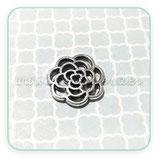 CONECTOR/A/004-011B  Flor-espiral plata vieja (10 unidades)