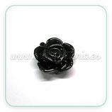 Cabuchón Resina flor negra  12x13mm F43s (20 unidades)
