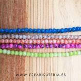 Abalorio cristal perla sintética color teñido efecto craqueklado (210 un. aproximadamente) 4x4mm C12580 color