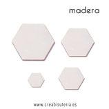 Madera hexágono (10 unidades)