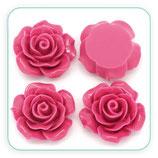 Cabuchón Resina Rosa color coruela 18x19mm (4 unidades) CABOOO-C27793