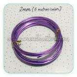 Aluminio 2mm 3METROS/color MALVA PACK 2