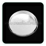 Camafeo base redondo plata para pegar 14x14mm CAMBAS-C31650 (10 unidades)