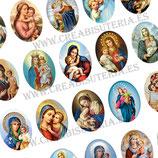 Lámina de  Imágenes Vírgen María y Niño Jesús