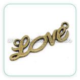 Conector LETRAS LOVE mediano bronce antiguo-C13320