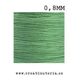 Cordón macramé Gama Deluxe 0,8mm  Color verde claro  (5 metros)