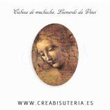 Cabuchón Cristal estampado ARTE Cabeza de muchacha leonardo da Vinci