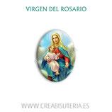 Cabuchón Cristal Religión - Nuestra Señora del Rosario (fondo cielo nubes)