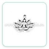 Colgante Espiritual - Flor de loto y figura interior yoga C0094323m (4 unidades)