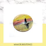 Cabuchón Cristal estampado ARTE Monet - el velero