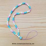 Cuelgamóviles multicolor acrílico Tamaño pequeño corazones pastel