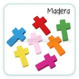Madera - Cruces de colores de madera C51217 (10 unidades)