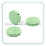 Madera abalorio redondo 20x20mm Color verde menta (10 unidades)