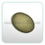 Camafeo oval 30x40mm bronce antiguo CAMBAS-C16718 (10 unidades)