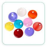 Concha en forma de círculo color VIVO (10 unidades) CONCH-circulitos
