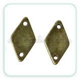 CONECTOR/A/048 - rombo liso bronce viejo CON-C61882 -10 piezas