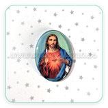 Cabuchón Cristal Religión - Sagrado Corazón de Jesús