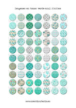 70 Imágenes de estampados tela tonos verde-azul 20x20mm