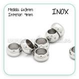 INOX - Accesorios - Bola 6x3mm Agujero 4mm  R1000 (40 unidades)