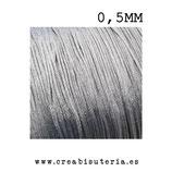 Cordón macramé Gama Deluxe 0,5mm  Color Gris (5 metros)