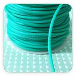 Cordón de caucho verde turquesa 2mm (4 metros)