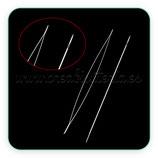 Aguja flexible para enfilado de cuentas  tamaño mediano 75mm x 0,3mm  (1 unidad) Inox