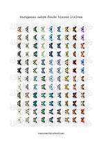 Imágenes vintage de mariposas FONDO BLANCO (108 cabuchones) 14mm