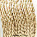 Cordón Nylon trenzado 1,5-2mm - 4 metros -  color dorado - beis
