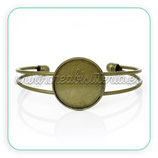 Pulsera brazalete camafeo bronce viejo 25mm PUL000-C42132
