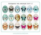 18 Imágenes de mariposas con mensaje II 30x40mm