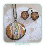 Conjunto Klimt texturas 30mm+ 14mm