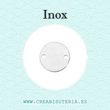 INOX - Conector acero inoxidable placa lisa 15x15mm  (10 unidades)