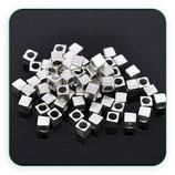 Entrepieza P3 - 31 cuadrado 4x4 agujero grande plateado ENTOOO-C03791 (20 piezas)