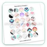 Lámina de imágenes redondas con motivos geométricos *new