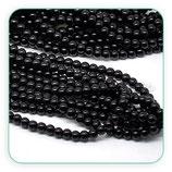 Abalorio de cristal negro perla diámetro 8x8mm  Ab-C08905 (tira de 105 unidades)