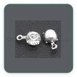 Charm mini -  colgantito brillantito de cristal blanco CHAOOO-RSB020NF (12 unidades)
