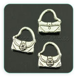 Charm bolso tipo cartera plata vieja CHAOOO-A02 (5 unidades)
