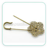 Broche camafeo imperdible + filigrana bronce viejo BROOOO-C15781
