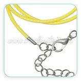 Correa collar algodón encerado 2mm amarillo COR-C64012