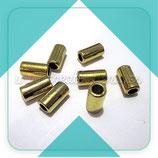 Tubo dorado agujero ancho P1179 - (20 unidades)