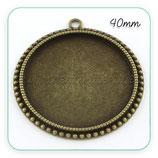 Camafeo redondo 40x40mm puntitos bronce viejo CAMBAS-PQ045