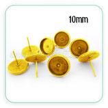 Pendiente camafeo Botón Dorado 10mm  ACCBAS-PH021 (10 pares)