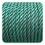 Cordón trenzado de Rayón verde 6mm