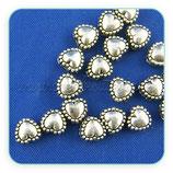 Entrepieza P1 - 10 corazón mini plata antigua ENTOOO-C00019 (15 unidades)