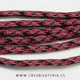 CESCALADA035 - Cordón de Nylon de Escalada  4mm  Modelo granate pizcas negro (3 Metros)