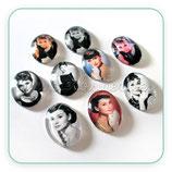 Cabuchón ilustrado - Personajes - Audrey Hepburn